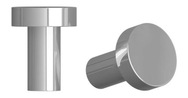 Attest knob stainless steel color 2 pack article for Ikea article number
