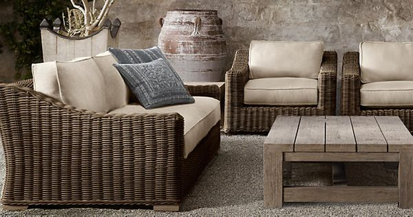 Provence Brown Restoration Hardware Outdoor Wicker