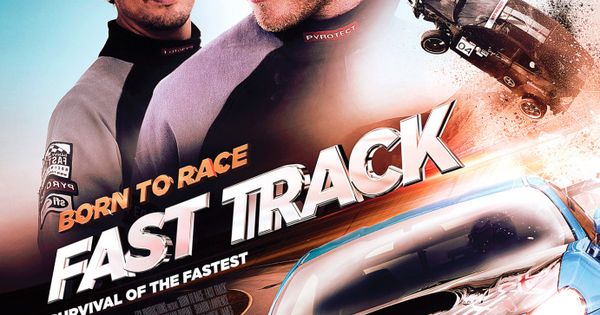 born to race fast track movie poster featuring the subaru. Black Bedroom Furniture Sets. Home Design Ideas
