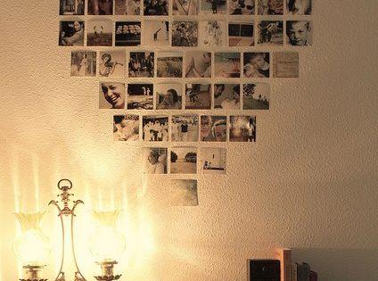 Heart Photo Collage. Cute idea !