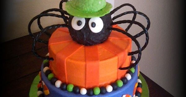 Halloween Birthday Cake - Design matched the invitations. 10, 8 orange pound