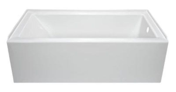 Lyons Industries Linear 5 Ft Right Hand Drain Soaking Bathtub In White Llt013260r The Home Depot Whirlpool Tub Bathtub Soaking Bathtubs