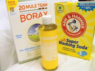 Homemade Laundry Soap Using Liquid Castile Soap Laundry Soap