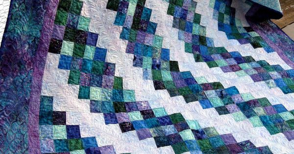 Nightfall 77x96 Jewel Tone Batik Quilt By Pinetreelodge On
