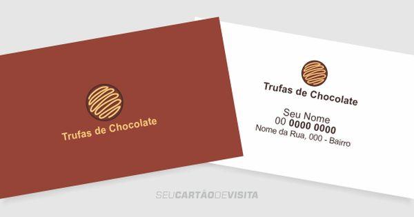 Cartao De Visita Trufas De Chocolate Download Gratis Fazer
