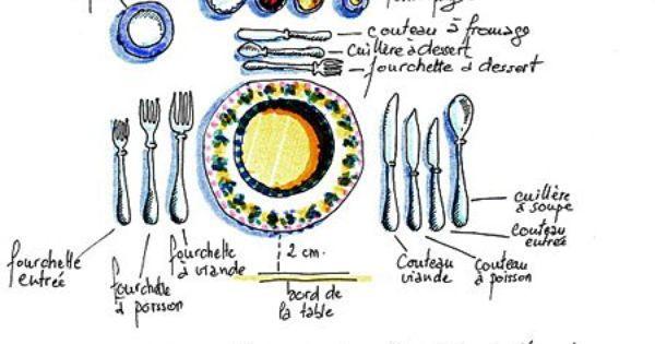 L 39 art de la table savoir recevoir les fran ais les couverts et couvert - Comment mettre la table en france ...