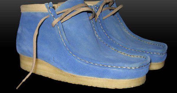 Custom Dyed Baby Blue Wallabee Clarks