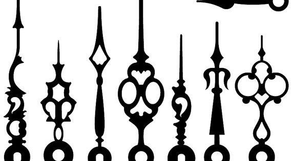 Vintage Victorian / Steampunk Clock Hands - Vectors, Clip ...