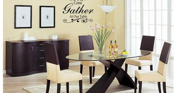 Details about COME GATHER AT OUR TABLE Wall Art Decal Decor ...