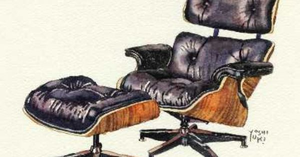 illustrations pinterest watercolour eames and eames lounge chairs