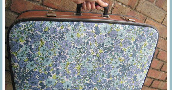 What peggy said diy mod podge floral suitcase decopatch vernis colle pinterest diy - Colle mod podge ...