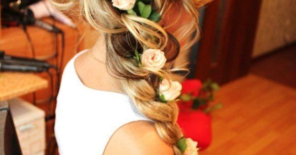 Curly braid for long hair …very nice hair style..