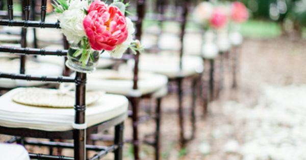 Brown Chairs Outdoor Ceremony Decorations: Love Those Brown Chiavari Chairs- Ceremony Aisle Decor
