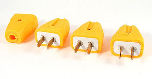 4 Pcs Rotatable Rewirable Au Us 2 Flat Pin Power Plug Connector Ac 250v 16 Amp Power Plug Plugs Flats