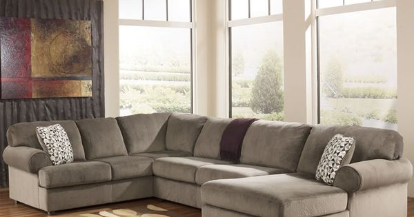 Microfiber u shaped chaise sectional 39802 ashley for 750 sofa chaise