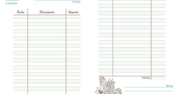 lista para gastos imprimible  anticipo de mi agenda