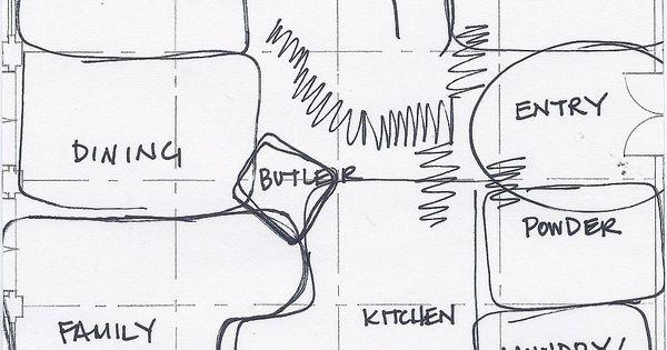 bubble diagram house plan