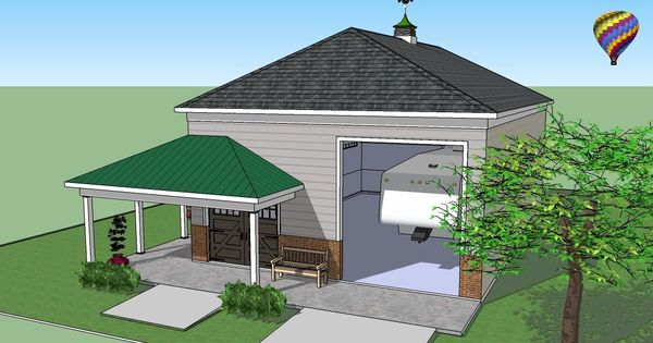 Metal garage with porch plans steel on the porch for Metal garage with porch