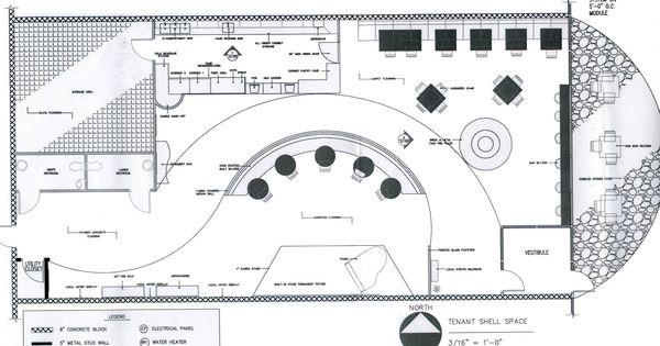 Coffee Shop Floor Plan – House
