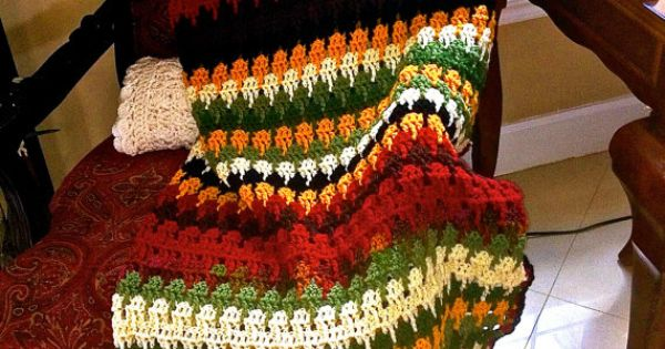 Crochet Pattern Southwestern Afghan : Handmade Crochet Southwestern Blanket. Afghan by ...