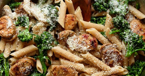 Whole Wheat Pasta with Broccoli and Chicken Sausage ...