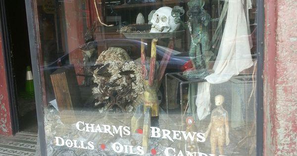 Voodoo shop window in old town conyers ga my little for Jardin gris voodoo shop conyers