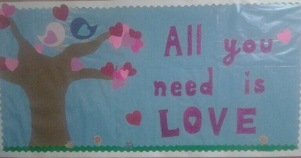 Valentine day love, Love birds and Bulletin boards on Pinterest