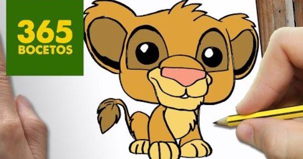 Como Dibujar Simba Kawaii Paso A Paso Dibujos Kawaii Faciles