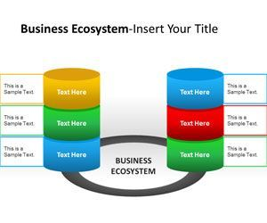 Business Ecosystem Actors Powerpoint Template Business
