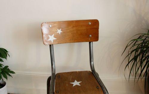 Chaise colier enfant revisit e style vintage industriel for Chaise ecolier vintage