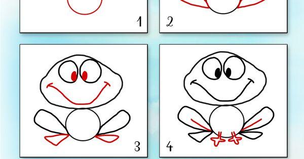 Apprendre dessiner animaux 1400 1980 - Dessiner une grenouille ...