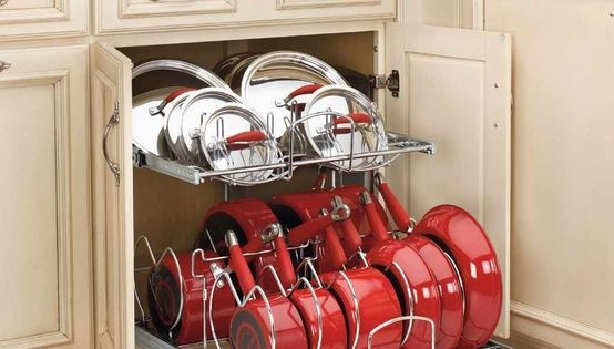 Kitchen storage idea. (Lowes and Home depot sell these.)
