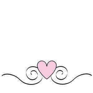 Pink Heart Scroll Clip Art Borders Clip Art Printable Designs