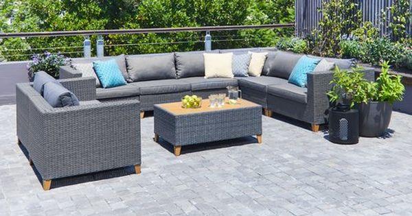 Ulogarnitura Ebbeskov Modul 8 Uleses Jysk Outdoor Furniture Garden Furniture Sectional Sofa