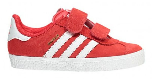 Gazelle Velcro Sneakers Red Adidas | Sneakers, Girls shoes
