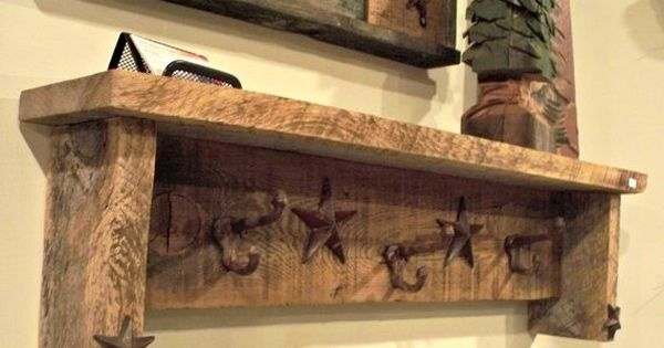 Barn Wood Crafts Ideas Barn Wood Shelf With Castiron