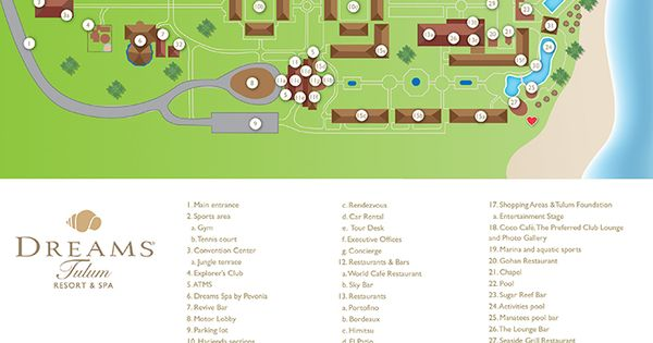 Dreams Tulum Resort Map Unlimited Vacation Club Resort