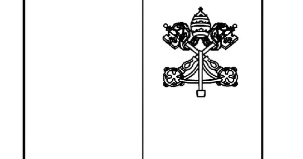 papal flag coloring pages - photo#20
