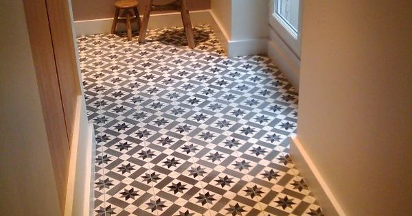 carreaux de ciment modele ch 13 en 20x20 charme parquet couloir entree pinterest. Black Bedroom Furniture Sets. Home Design Ideas