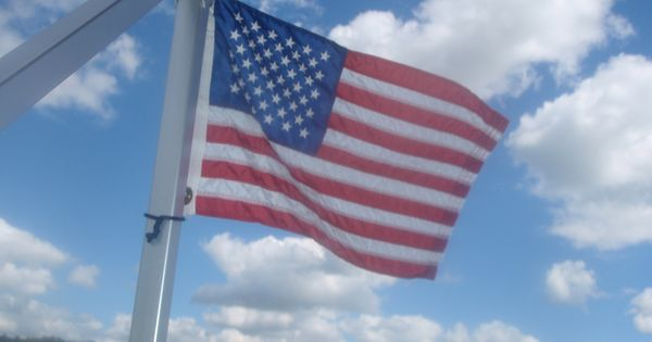 flag in wind
