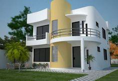 Casas De Dos Pisos Y Tres Dormitorios Planos De Casas Modernas Fachadas De Casas Modernas Casas De Dos Pisos