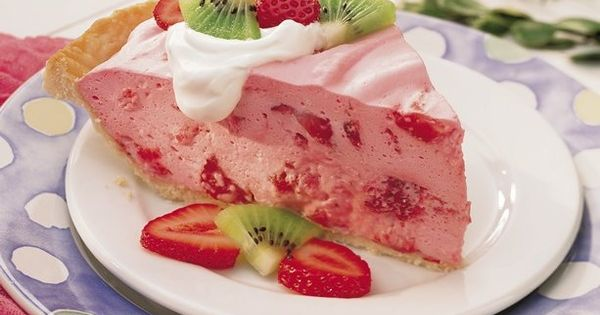 Fluffy Strawberry Pie - | Obsessed | Pinterest | Strawberry Pie, Pies ...