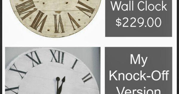knock off ballard designs lanier wall clock using junk