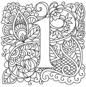 Mendhika Number 1 Coloring Letters Alphabet Design Coloring Pages
