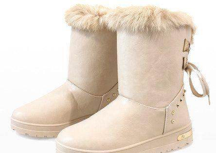 Kozaki Damskie Butymodne Brazowe Damskie Bezowe Sniegowce An 107 Boots Snow Boots Boot Shoes Women