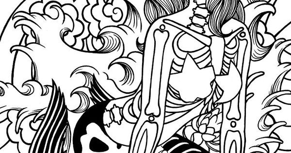 calavera catrina coloring pages - photo#27