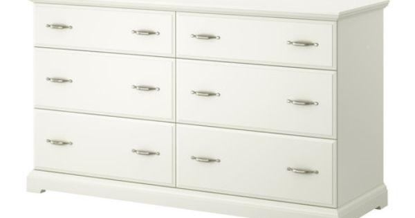 Birkeland Commode 6 Tiroirs Ikea Les Qui Sont Faciles à Ouvrir Et Fermer équipés D Arrêts Déco Pinterest Smooth Dresser And