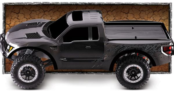 Ford Raptor Svt 58064 1 58064 2 Side View Gray Traxxas Ford