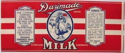 Darimade Vintage Seattle Wa Milk Can Label Boite En Papier Boite De Conserve Etiquettes