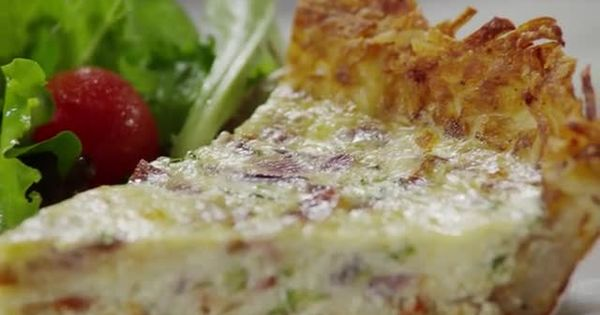 This Recipe For Hash Brown Quiche Uses A Crisp Hash Brown